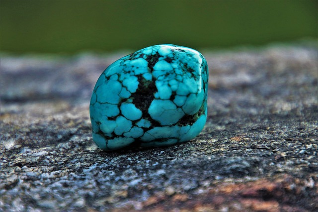 small turquoise stone
